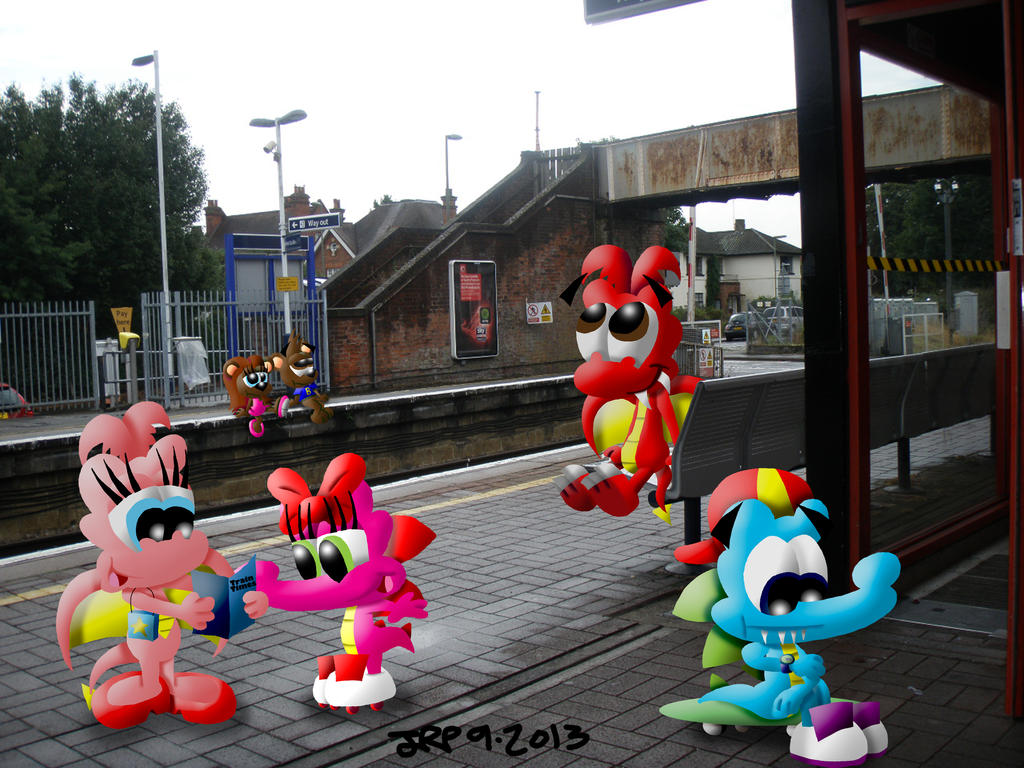 Train Station by JimmyCartoonist