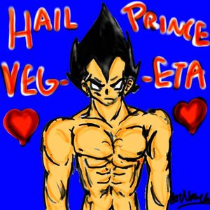 Vegeta Anatomy Tablet Practice By Princevegetaslov by StarryKnightStudio