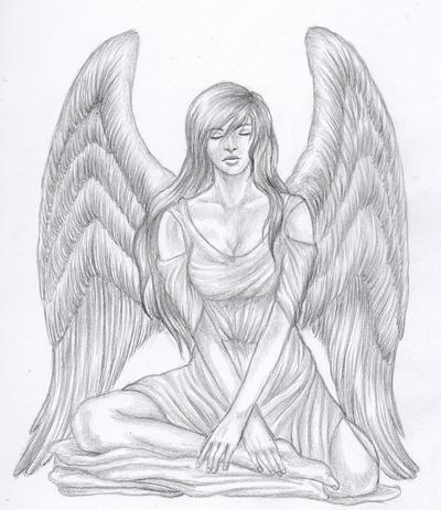 sad angel tattoo. Angel tattoo by *kimi4eva on