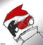 Tokusatsu Helmet Design: Ender-1