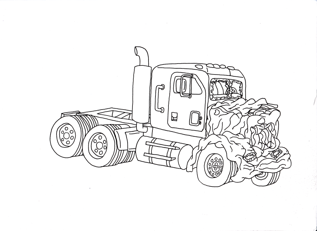 Truck Wreckage Inks by Blackn-Yellow
