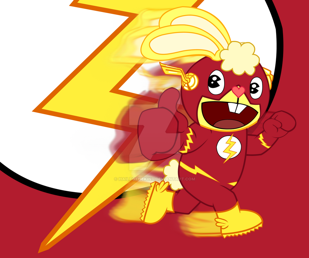 Cuddles as Flash by Blackn-Yellow