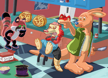 Trigger Happy Halloween Special Jerk-O-Lantern by Hailt0TheKing