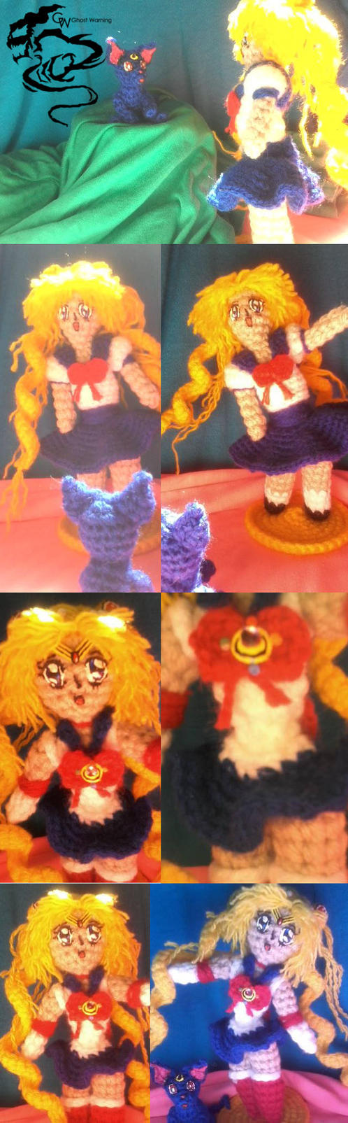 Usagi meet Luna (Amigurumi). by LGhost