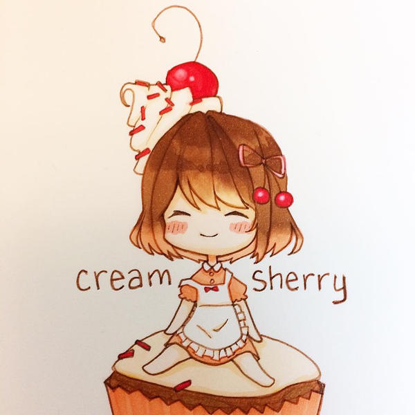 Cupcake and Cream by creamsherry