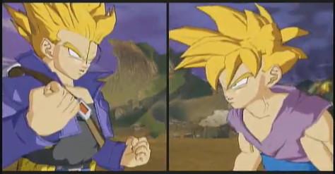 teen gohan ssj1 vs trunks 2 by Dragonball-Songohan