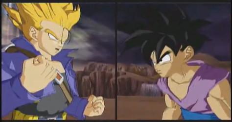 teen gohan vs trunks by Dragonball-Songohan
