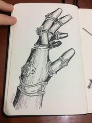 Steampunk robot hand