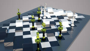 Kingdom Hearts 3 Chess Board + Pieces [4K Render]