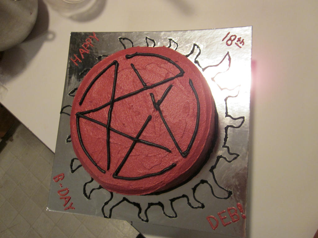 Supernatural Birthday cake by Tempest19