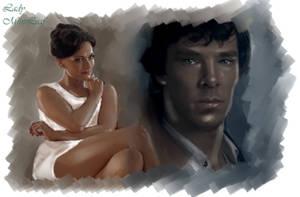 Sherlock-The Woman by LadyMintLeaf
