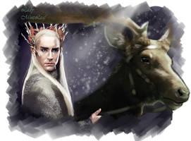 Thranduil king of the elves by LadyMintLeaf