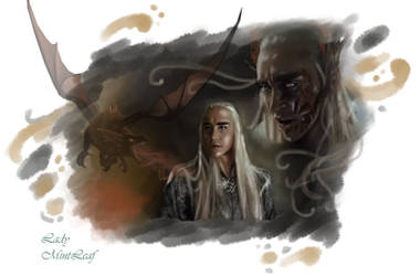 Thranduil-Dragon scars