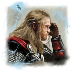 Thor's cry by LadyMintLeaf