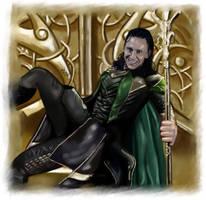 Loki - I am a King by LadyMintLeaf
