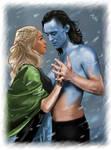 Loki and Sigyn - jotunheim