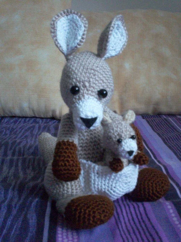 Amigurumi Kangaroo : Kangaroo ( Canguro ) Amigurumi by LadyMintLeaf on DeviantArt