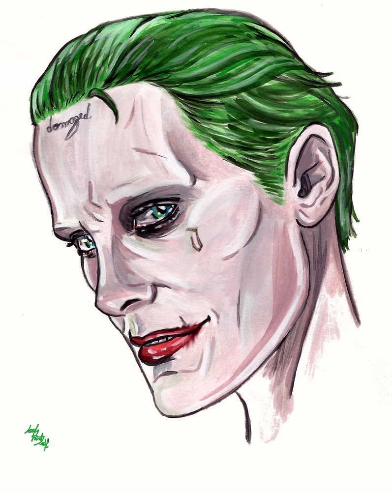 Joker Face By LadyMintLeaf