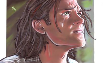 Sam -tears by LadyMintLeaf