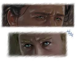 Loki Thor - Eyes by LadyMintLeaf