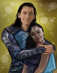 Loki and Valkyrie by LadyMintLeaf