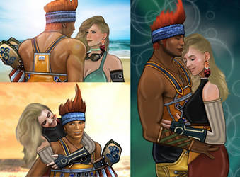 AT - Wakka and Nuuca by LadyMintLeaf