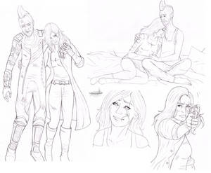 Neva and Kraglin (linearts preview)