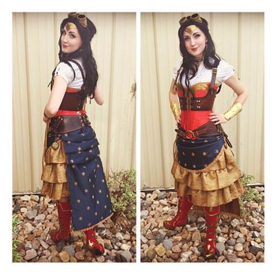 Steampunk Wonder Woman Debut  by Vanaliel
