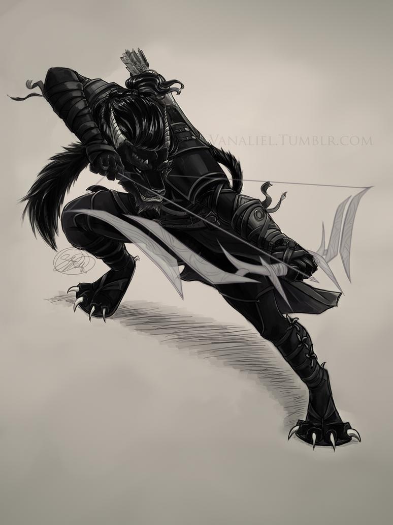 Kivuli Shadowpaw by Vanaliel