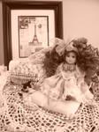 Antique Doll- Sepia
