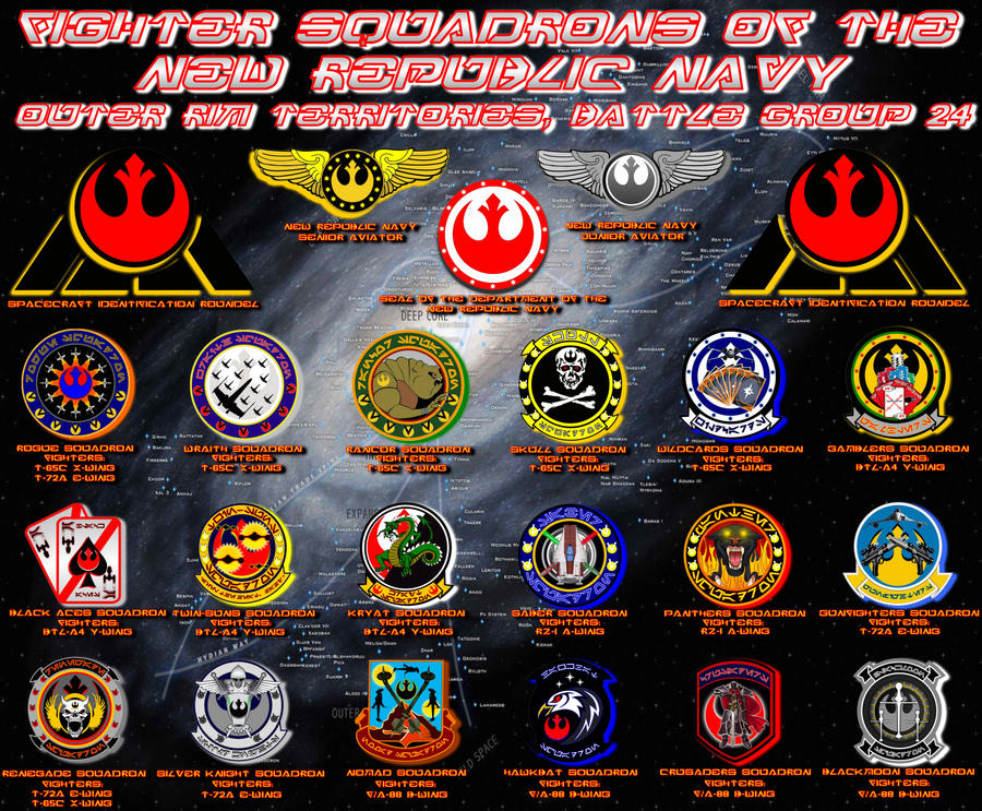 Squadron Insignias Poster by viperaviator