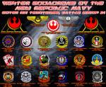 Squadron Insignias Poster