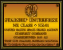 NX-01 Dedication Plaque by viperaviator