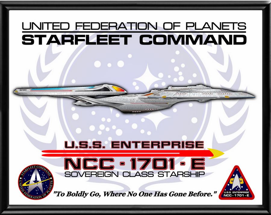 Enterprise E Poster by viperaviator