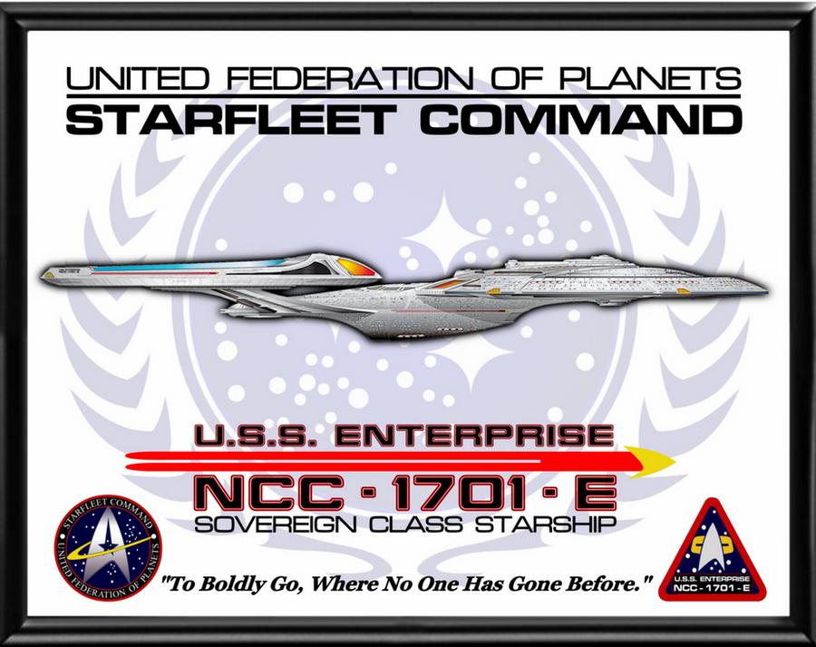 Enterprise E Poster by viperaviator