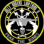 VFA-103 Jolly Rogers F-35C Flight Insignia