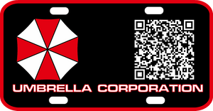 Umbrella Corp License Plate