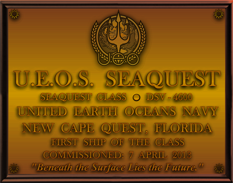 seaQuest DSV Dedication Plaque by viperaviator
