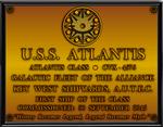 USS Atlantis Dedication Plaque