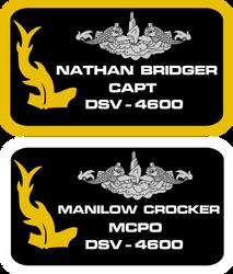 seaQuest DSV Revised Crew Uniform Nameplates