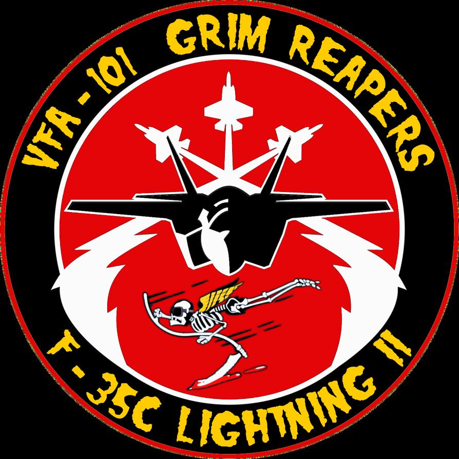 VFA-101 Grim Reapers F-35C Flight Insignia by viperaviator ...