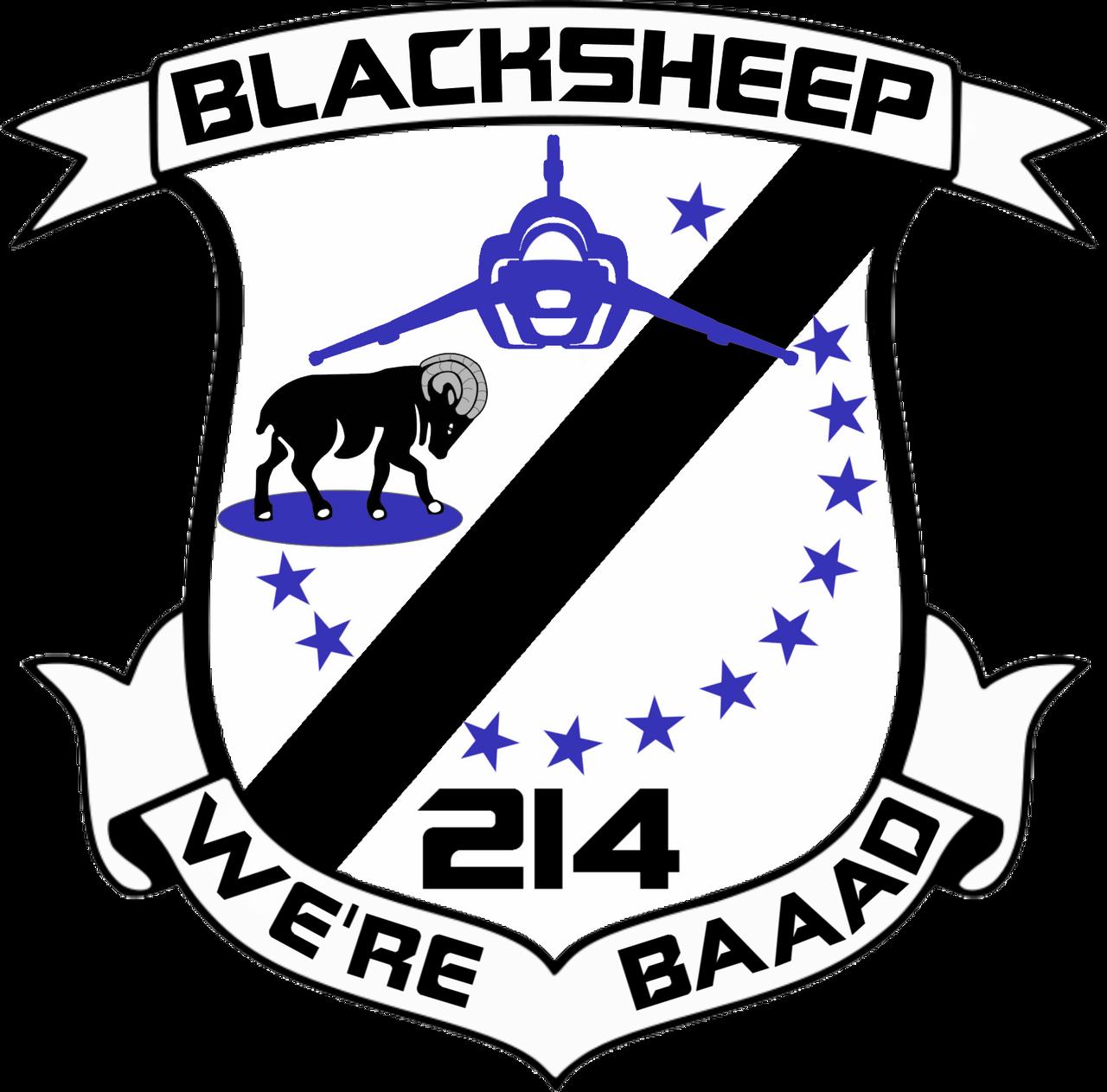BSG VFS-214 Blaksheep Squadron Insignia by viperaviator on ...