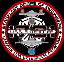 USS Enterprise Refit S.L.E.P. Insignia by viperaviator