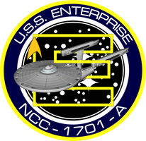 USS Enterprise A Ship's Insignia NEW VERSION by viperaviator