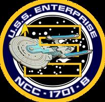 USS Enterprise B Ship's Insignia NEW VERSION by viperaviator
