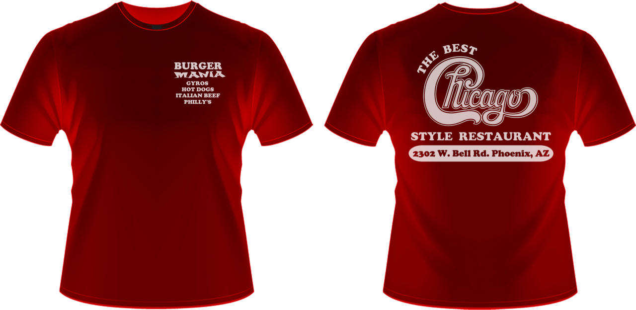 burger mania uniform t shirt design by viperaviator on