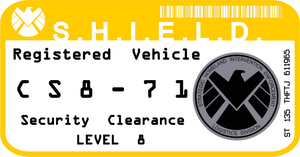 SHIELD Vehicle Registration Decal