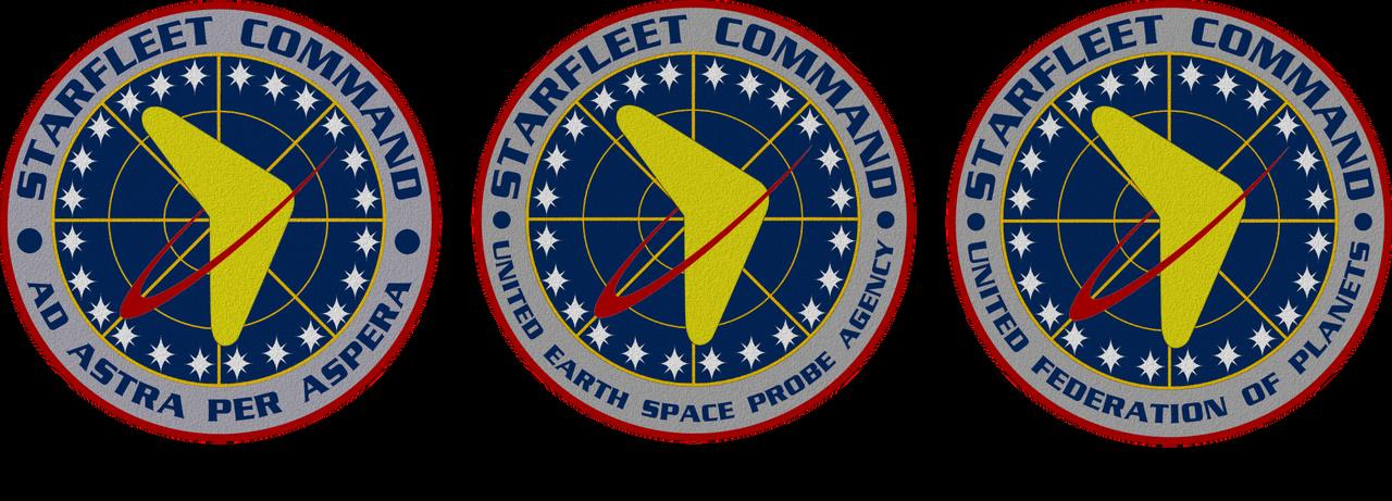 Updated Star Trek TOS Starfleet Crest 3 Versions by viperaviator