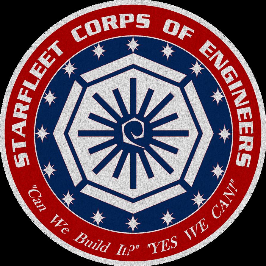 Star Trek Starfleet Corps of Engineers Crest by viperaviator
