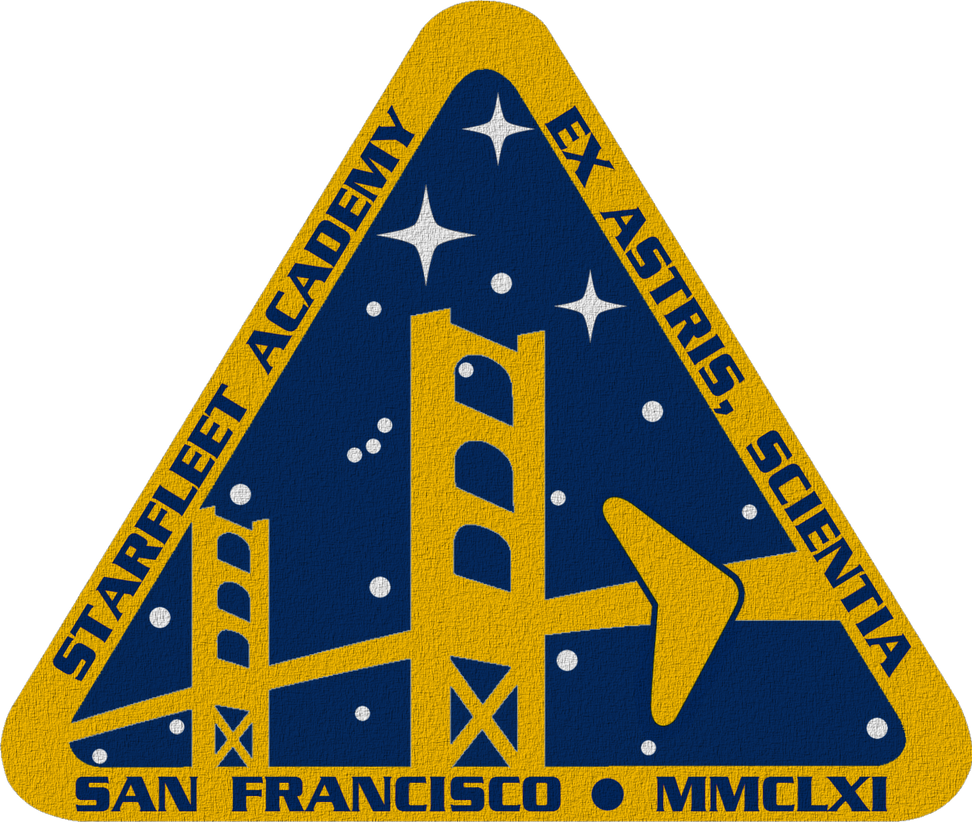 star trek tos starfleet academy crest by viperaviator on